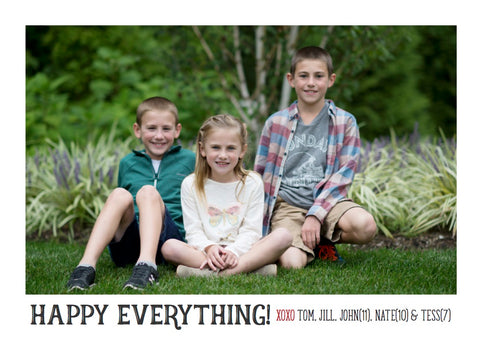 886 Happy Everything Holiday Card