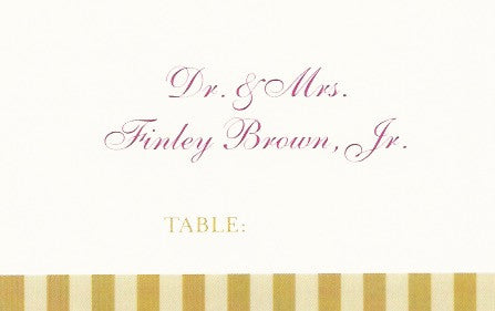 Two Toned Wedding Place Cards