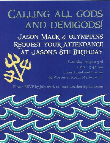Gods and Goddesses Kids Birthday Invitation