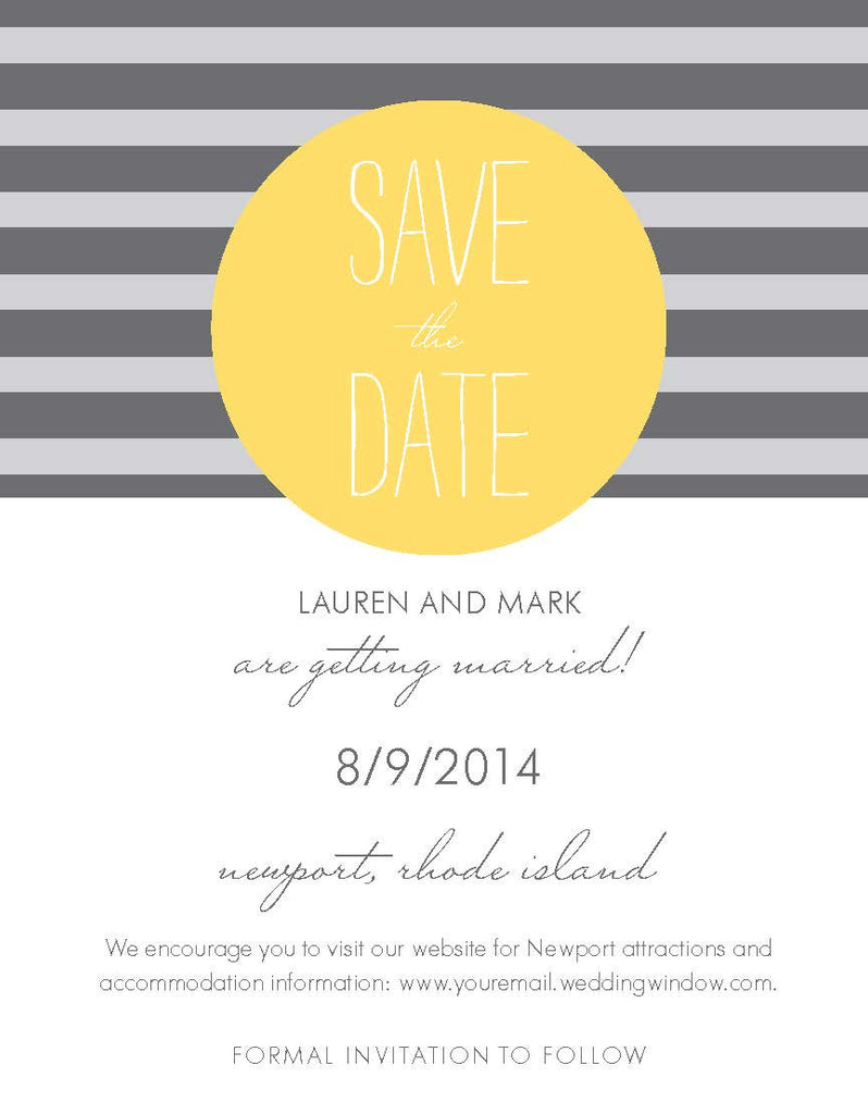 Horizontal Stripe Save The Date
