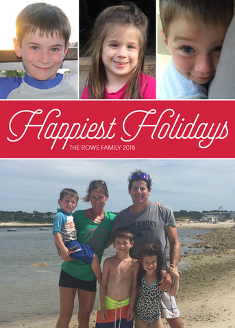 904 Happiest Holidays Photo Holiday Card