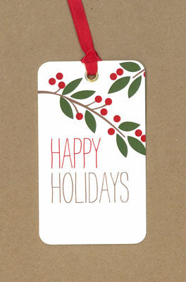 Branch Happy Holidays Say Anything Holiday Gift/Wine Tags