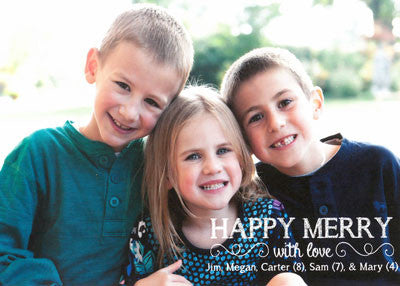 512 Happy Merry Photo Holiday Card