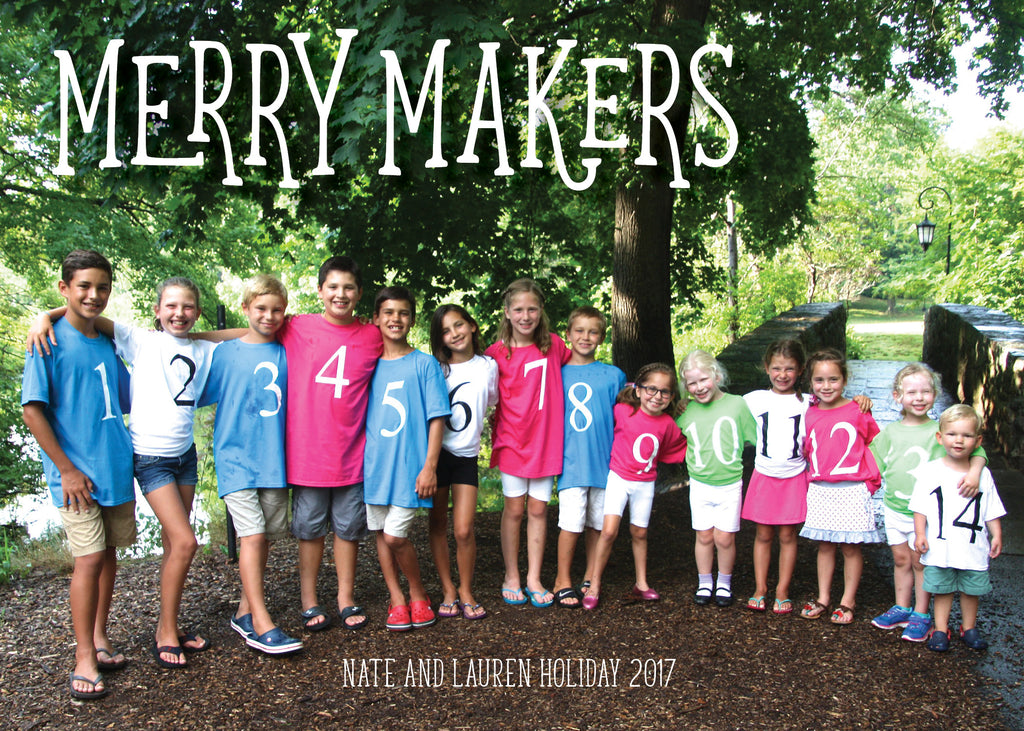 863 Merry Makers Photo Holiday Card