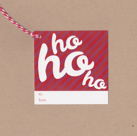 Ho Ho Ho Mini Say Anything Holiday Gift/Wine Tags