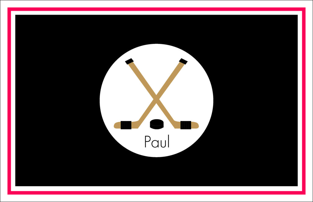 Hockey Sticks Personalized Kids Placemats