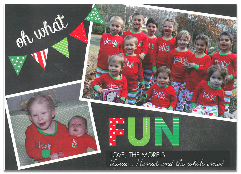 970 Oh What Fun Holiday Card