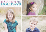574 Happiest Holidays Photo Holiday Card