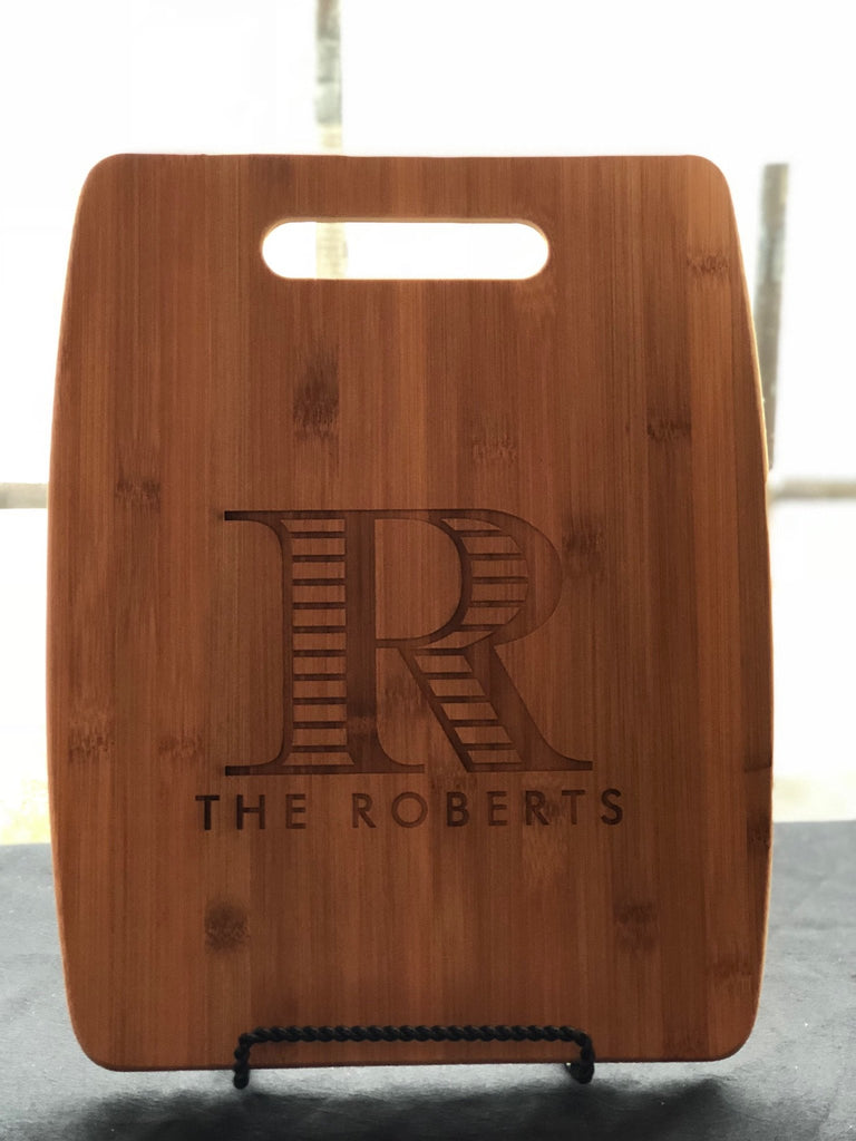"12""x 15"" Personalized Bamboo Cutting/Serving Board"