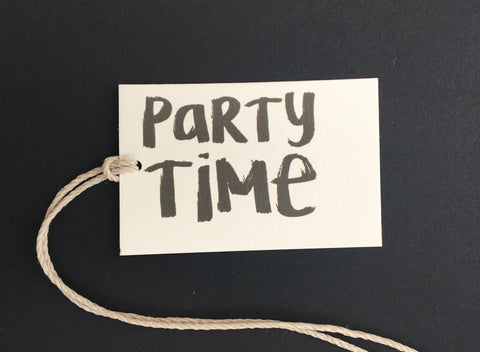 Party Time Mini Say Anything Gift/Wine Tags