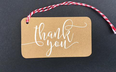 Thank You Kraft Paper Say Anything Gift / Wine Tags
