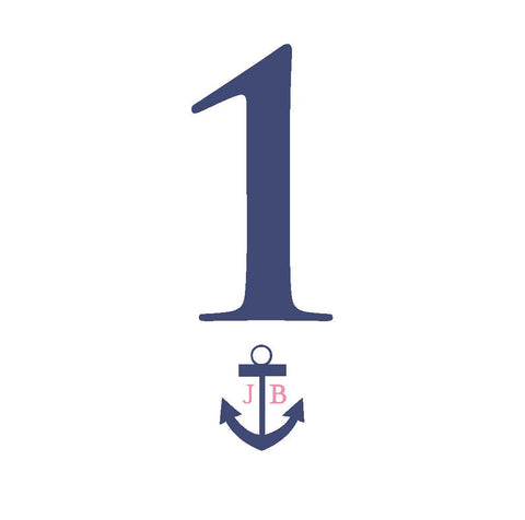 Nautical Anchor Wedding Table Numbers
