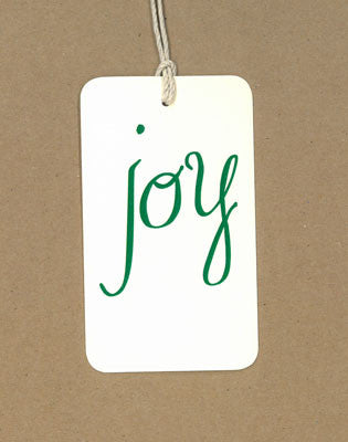 Joy Green Say Anything Holiday Gift/Wine Tags