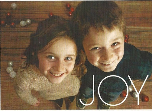 595 Joy Photo Holiday Card