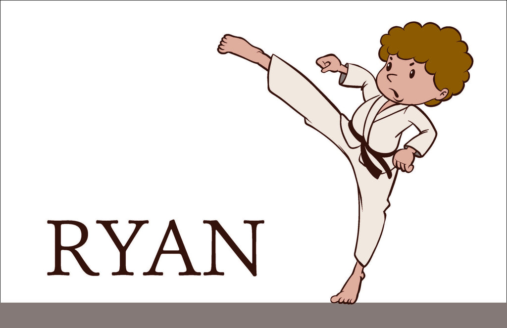 Karate Personalized Kids Placemats