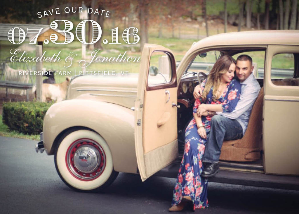 Classic Car Photo Save The Date