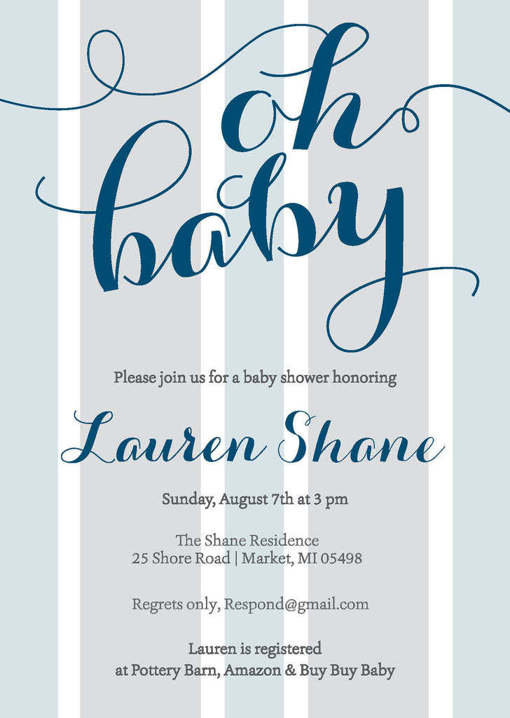 Baby Boy Baby Shower Invitation