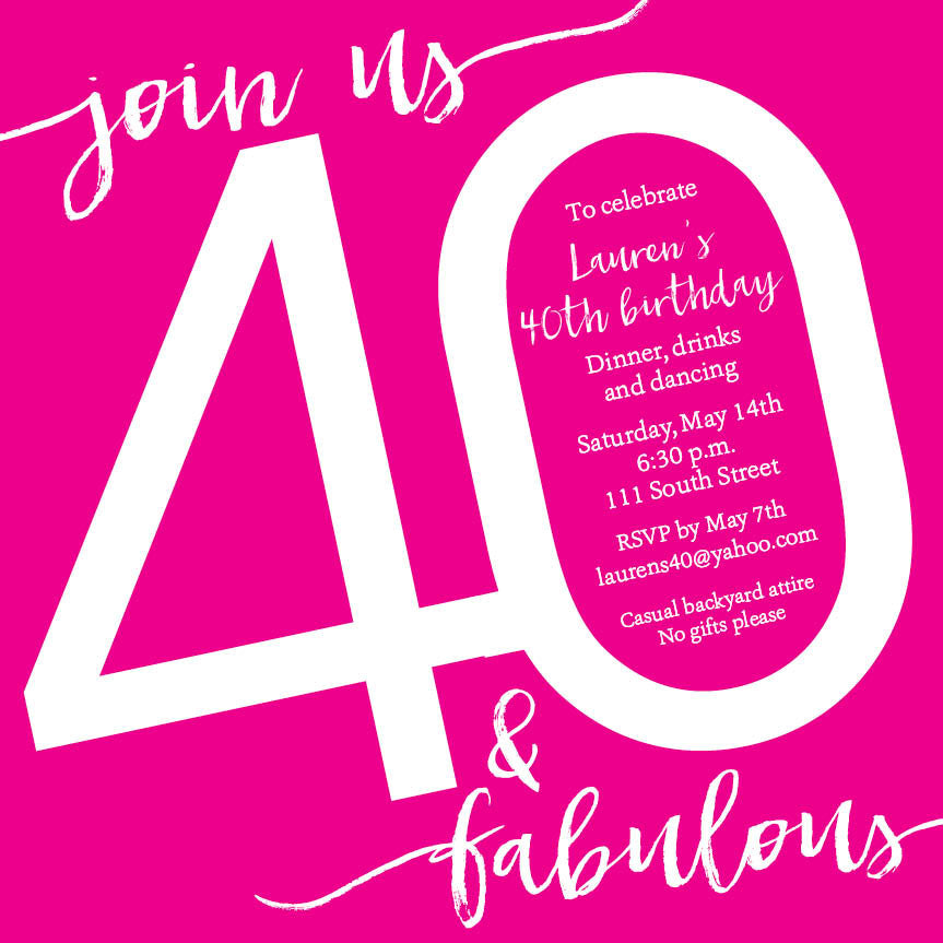 Hot Pink Cocktail Party Invitation