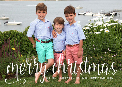 881 Merry Christmas Photo Holiday Card