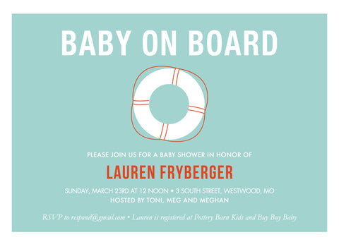 Life Saver Baby Shower Invitation