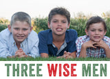 464 Three Wise Men Photo Holiday Card