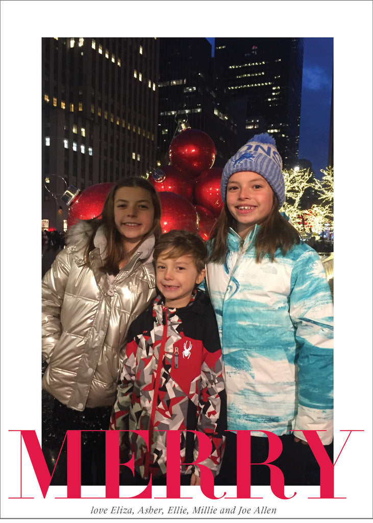 424 MERRY Photo Holiday Card