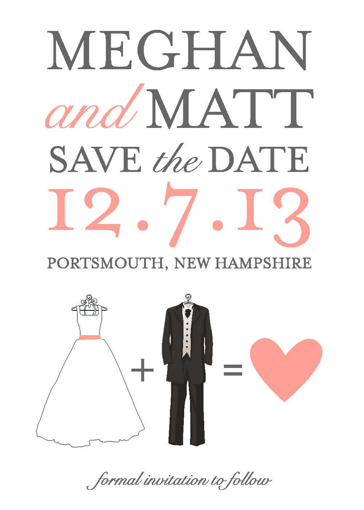 Bride + Groom Save The Date