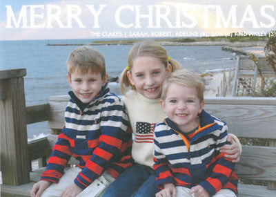 551 Merry Christmas Chalkboard Holiday Card
