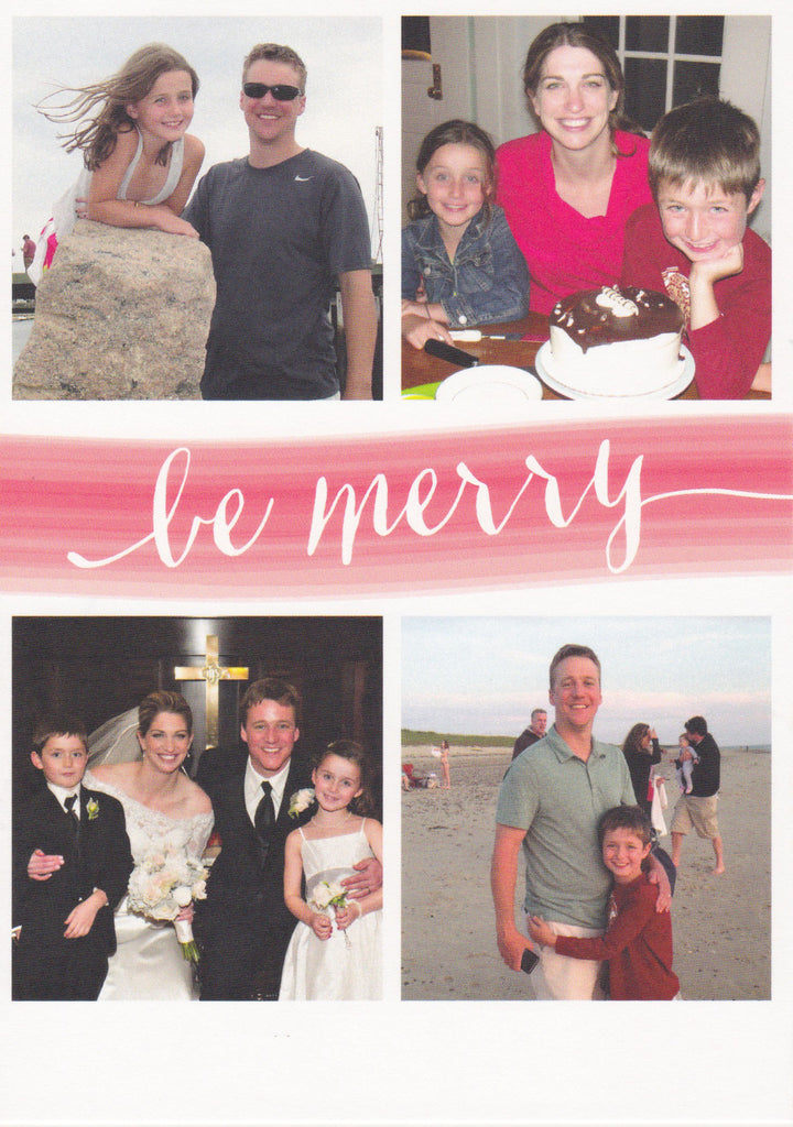 923 Be Merry Photo Holiday Card