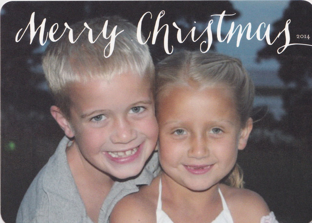589 Merry Christmas Photo Holiday Card