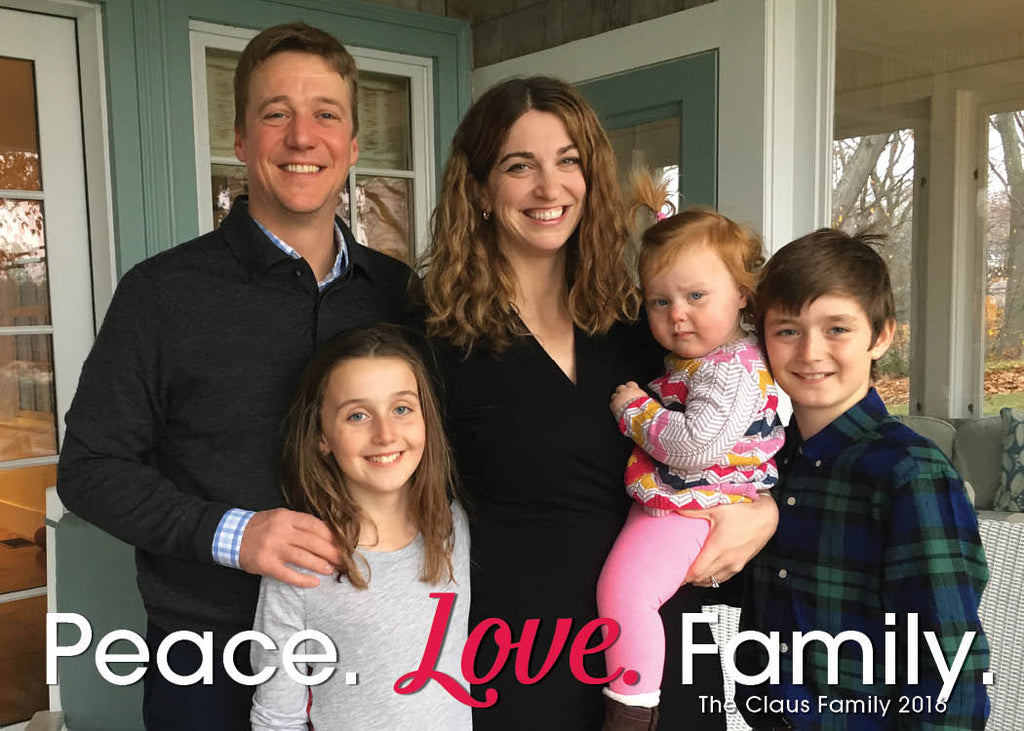 462 Peace Love Family Photo Holiday Card