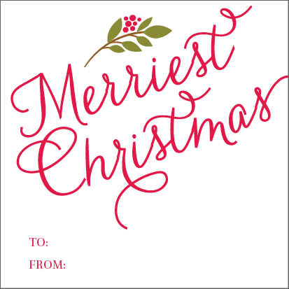 Merriest Christmas Holiday Gift Sticker