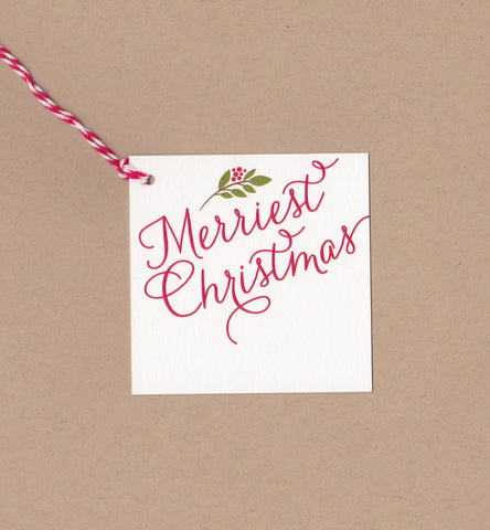 Merriest Christmas Mini Say Anything Holiday Gift/Wine Tags