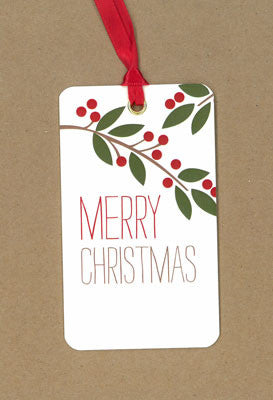 Branch Merry Christmas Say Anything Holiday Gift/Wine Tags