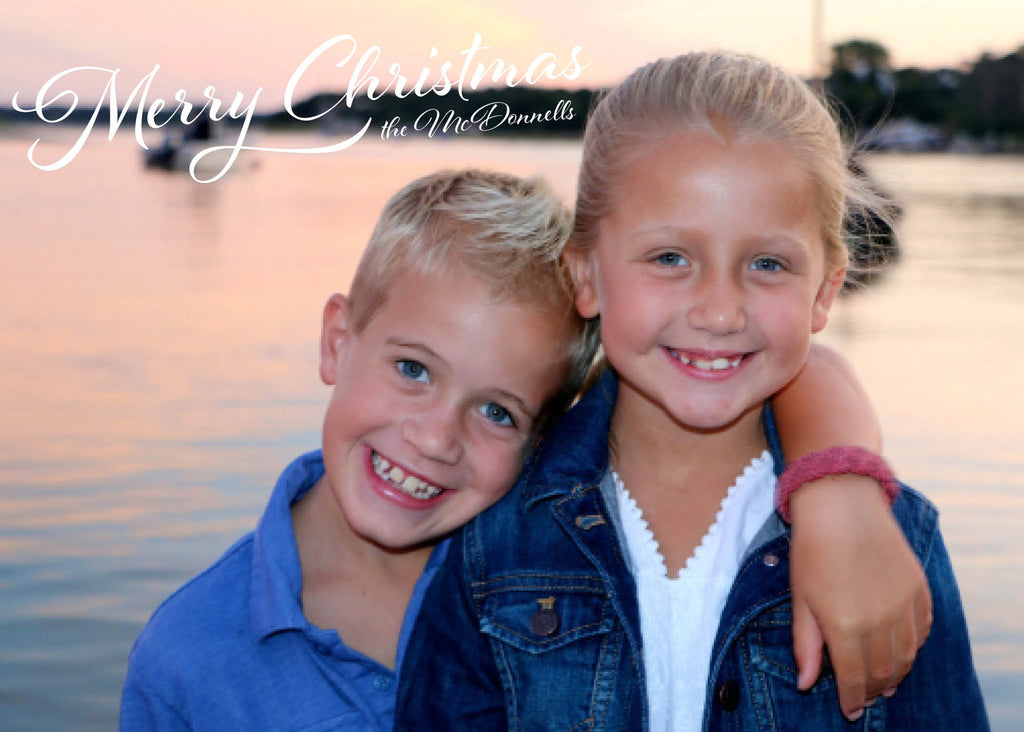 490 Merry Christmas Traditional Photo Holiday Card