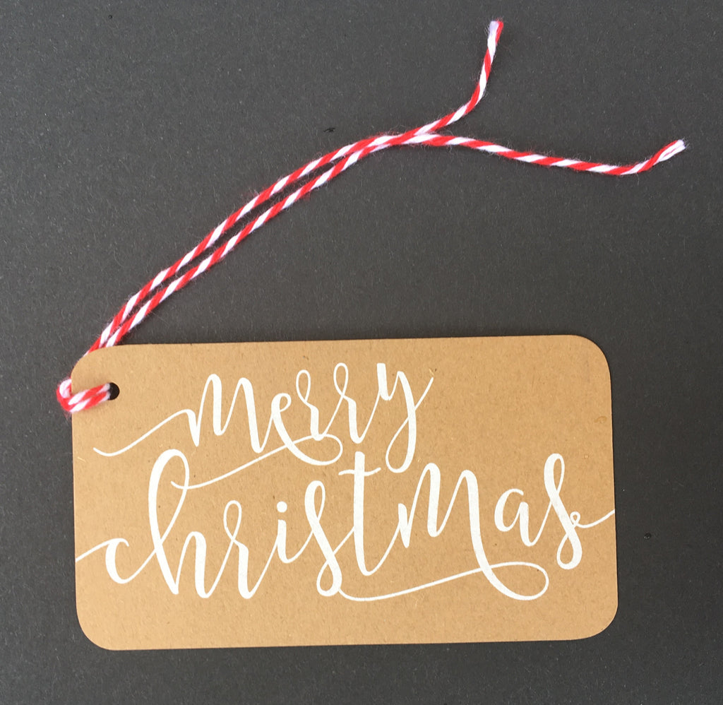 Merry Christmas Kraft Paper Mini Say Anything Holiday Gift/Wine Tags