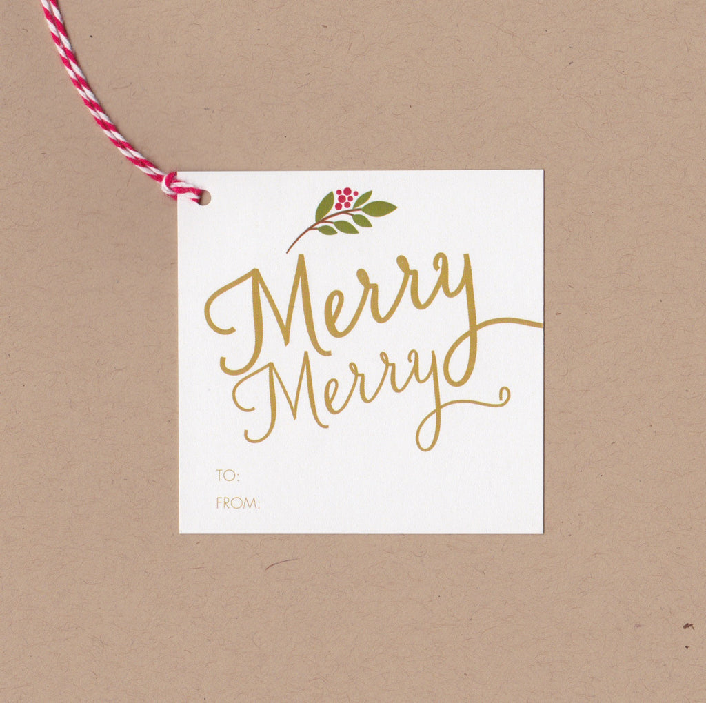Merry Merry Mini Say Anything Holiday Gift/Wine Tags