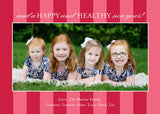 496 Merry Christmas Corner Photo Holiday Card