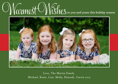 907 Warmest Wishes Photo Holiday Card
