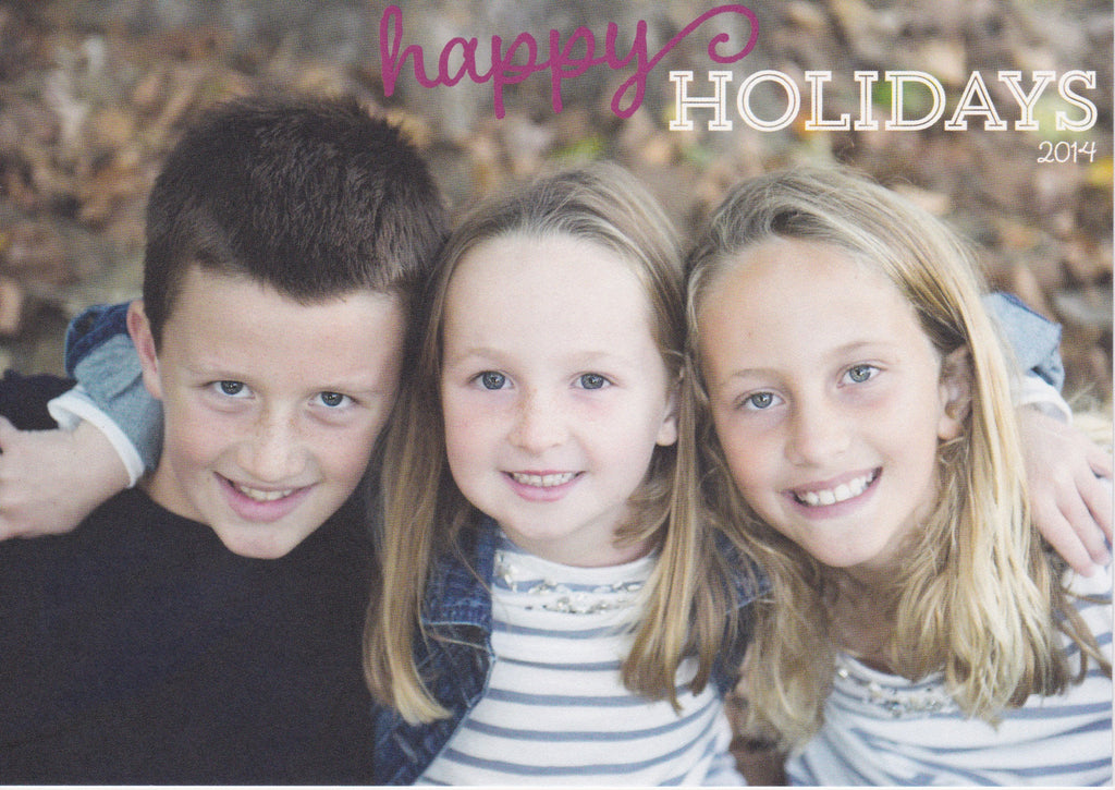 576 Happy Holiday Photo Holiday Card