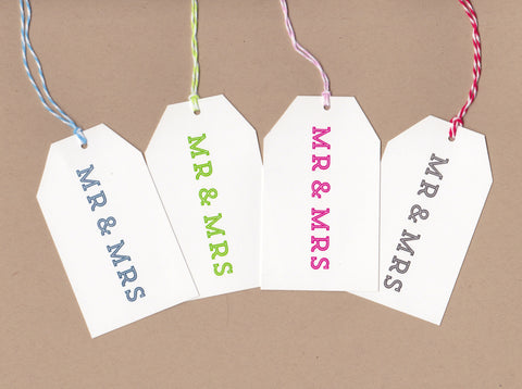 Mr. and Mrs. Mini Say Anything Gift/Wine Tags