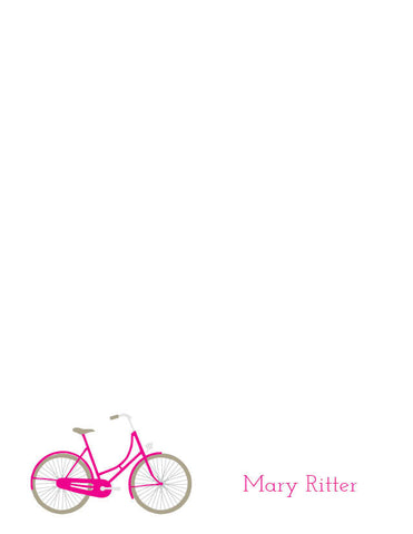 Bicycle Retro Stationery/Notepad