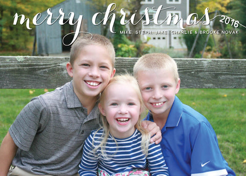 871 Merry Christmas Photo Holiday Card