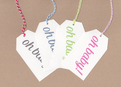 Oh Baby Mini Say Anything Gift Wine Tags