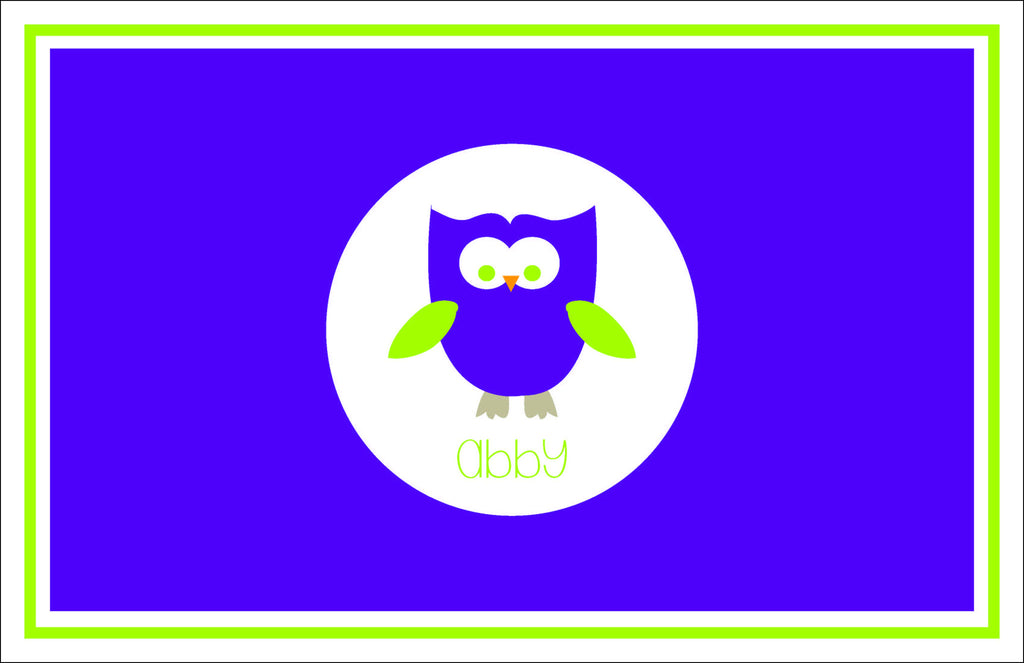Owl Personalized Kids Placemats
