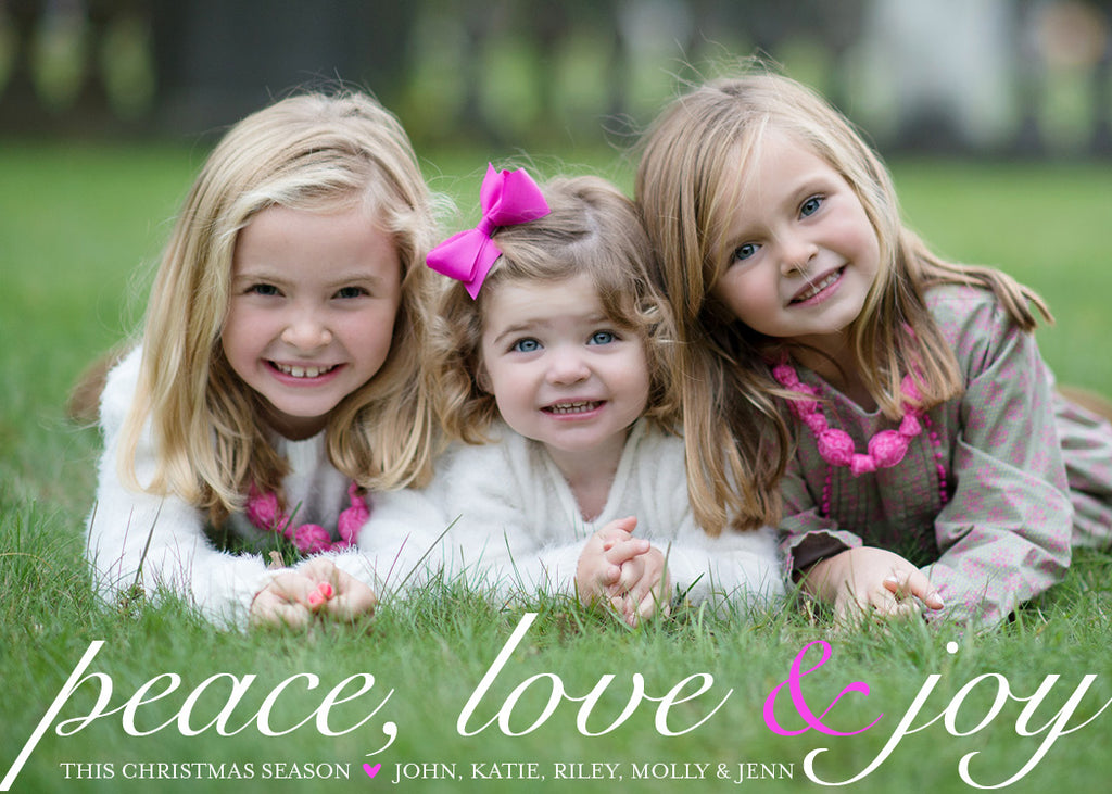 547 Peace Love & Joy Holiday Card