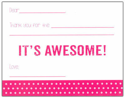 Pink Polk-a-dot Kids Fill-in-the-blank Stationery