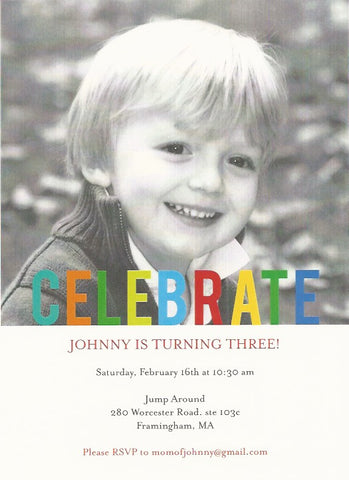 Photo Kids Birthday Party Invitation