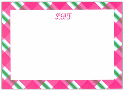 Plaid Stationery/Notepad