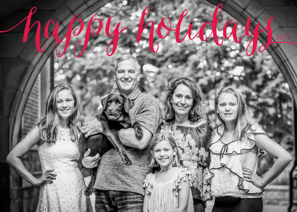 445 Happy Holidays Photo Holiday Card